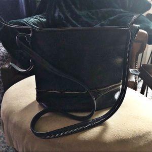 Botkier Black Genuine Leather Crossbody
